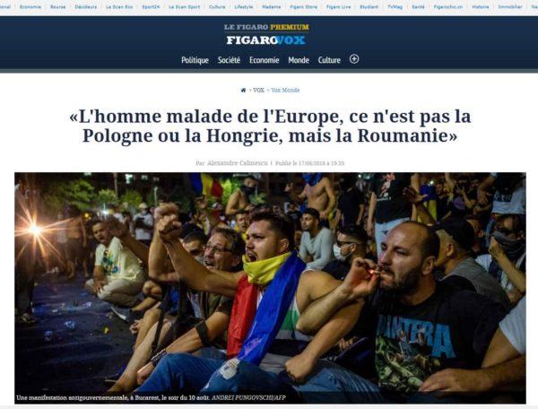 Le Figaro - articol Al Calinescu-min