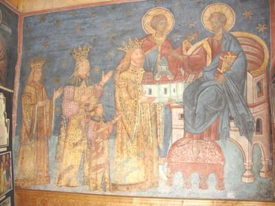 tabloul votiv de la voronet - Stefan cel MAre