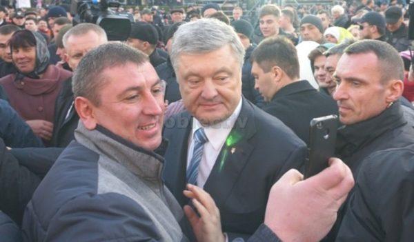 Petro Poroșenko la mitingul de sâmbătă, de la Cernăuți
