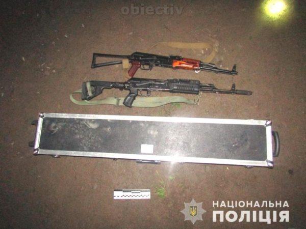 O parte dintre armele confiscate de la traficanții din Putila