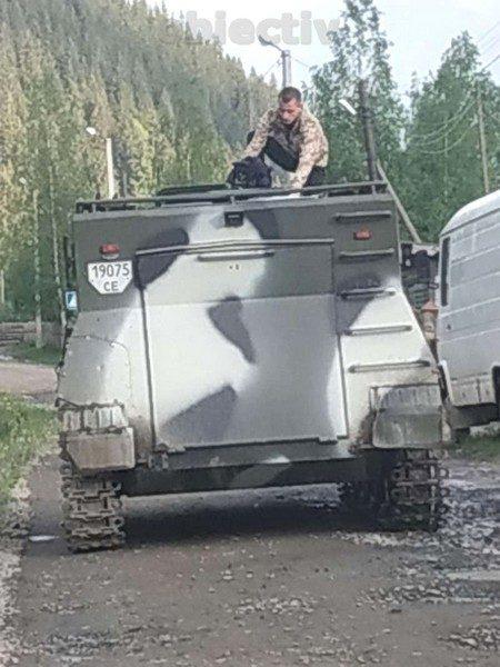 Transportorul blindat descoperit la infractorii dinŞepit