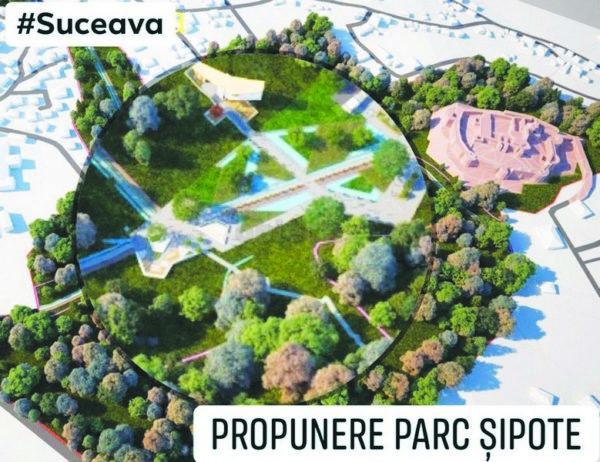 Obiectiv, stiri, Suceava, Parc Sipote, proiect