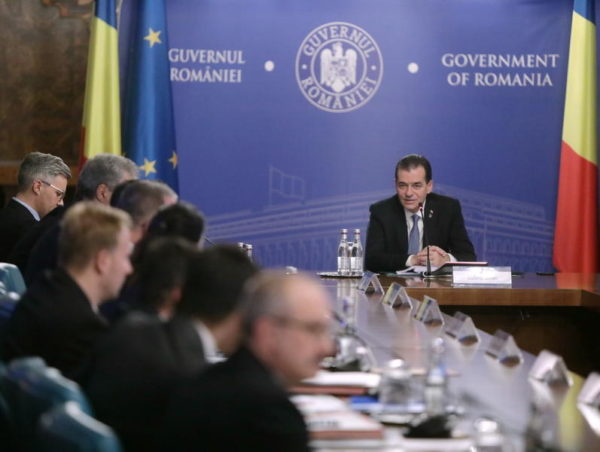 Guvernul Orban, sedinta de Guvern, Ludovic Orban