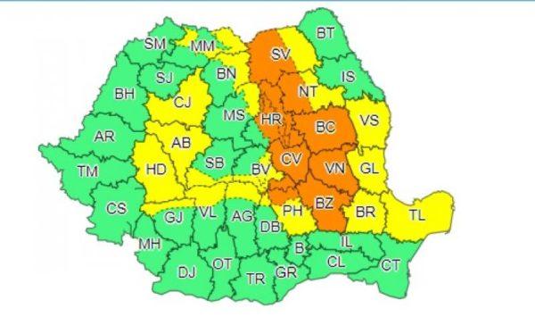 Obiectiv, cod,portocaliu, Suceava, 29 iunie