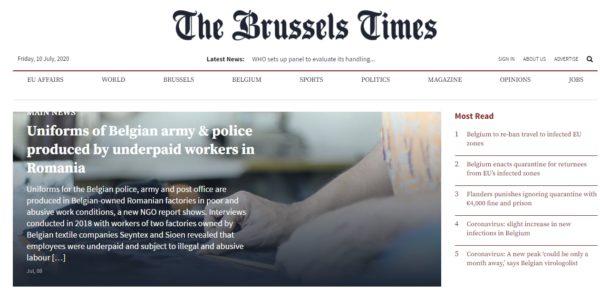 The Brussels Times, Obioectiv, Falticeni, croitori, uniforme, politie